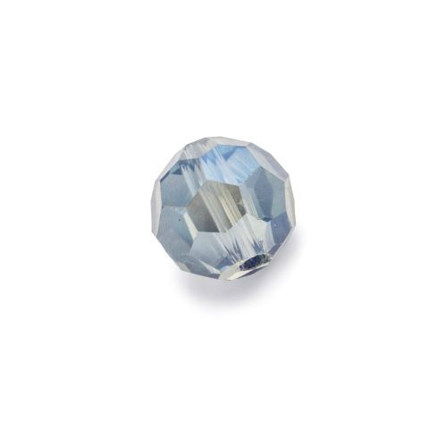 Niebieska przeźroczysta fasetowana kula (nr 15)