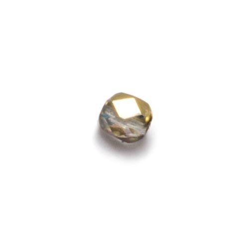 Złota przeźroczysta fasetowana bryłka (nr 7)
