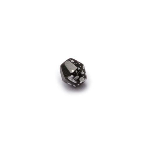 Czarny nakrapiany srebrem fasetowany romb (nr 10)