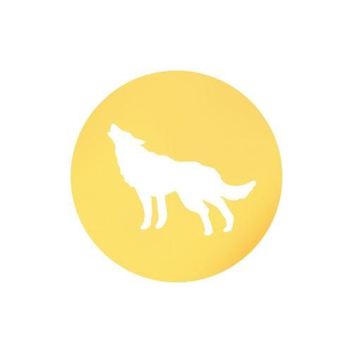 Medalik z wilkiem