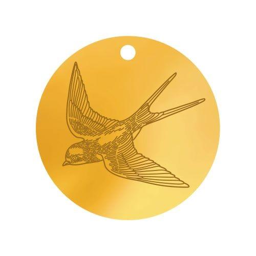 Medalik z jaskółką