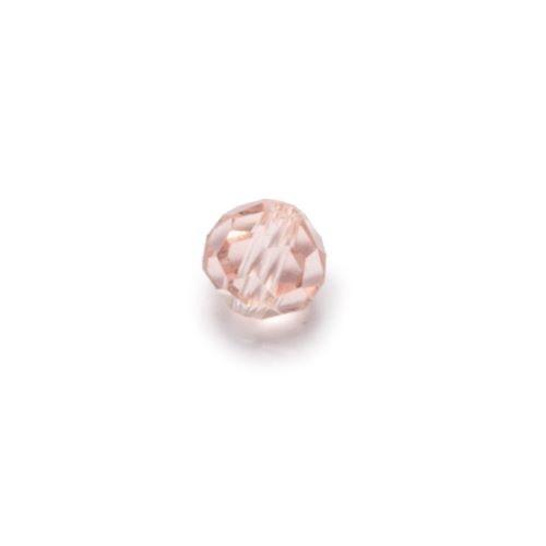 Różowa przeźroczysta fasetowana kulka (nr 2)