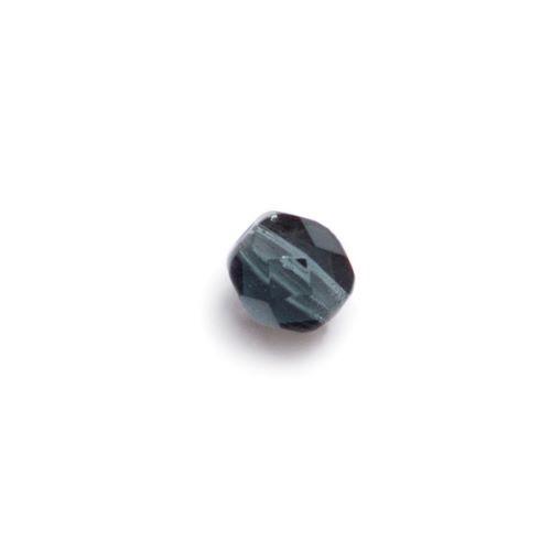 Granatowa przeźroczysta fasetowana bryłka (nr 11)